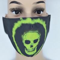 Maske Green Skull