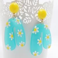 Ohrringe Flower Power Blue